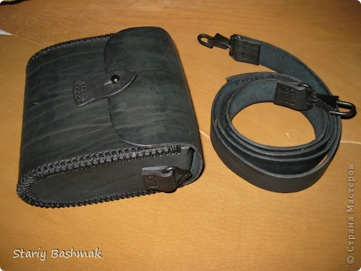 сумка-кофр из толстой кожи - чепрак, сделано по прозьбе товарища Никса  :) фото 1