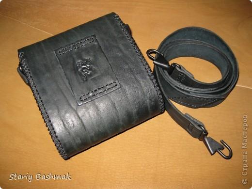сумка-кофр из толстой кожи - чепрак, сделано по прозьбе товарища Никса  :) фото 2