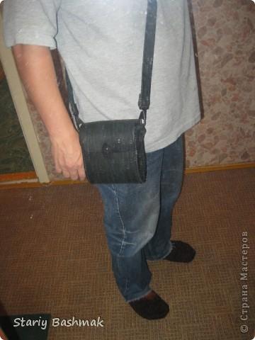 сумка-кофр из толстой кожи - чепрак, сделано по прозьбе товарища Никса  :) фото 4