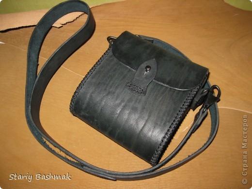 сумка-кофр из толстой кожи - чепрак, сделано по прозьбе товарища Никса  :) фото 3