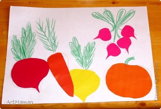 Урожайную грядку творили с дочей (2 г.) из гофрокартона. Она обожает этот материал, и работа с ним у нас всегда идет на ура. фото 5