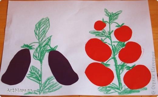 Урожайную грядку творили с дочей (2 г.) из гофрокартона. Она обожает этот материал, и работа с ним у нас всегда идет на ура. фото 6