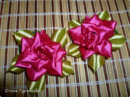Благодаря  МК http://blog.kp.ua/users/olga6149/post165127680/ я  сделала розочки.Подарю их  своим внученькам на  дни рождения. фото 2