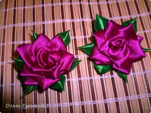 Благодаря  МК http://blog.kp.ua/users/olga6149/post165127680/ я  сделала розочки.Подарю их  своим внученькам на  дни рождения. фото 1