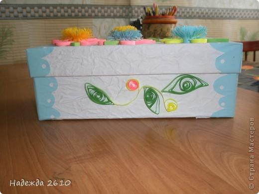 Надоело мне смотреть на старую обувную коробку с мелочами. И решила я ее сделать красивой, и вот что получилось... фото 3