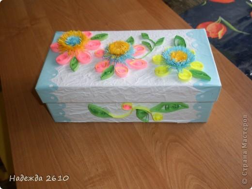 Надоело мне смотреть на старую обувную коробку с мелочами. И решила я ее сделать красивой, и вот что получилось... фото 4