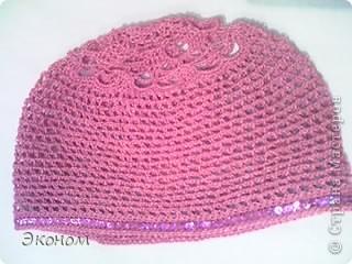 Шапка розовая фото 1