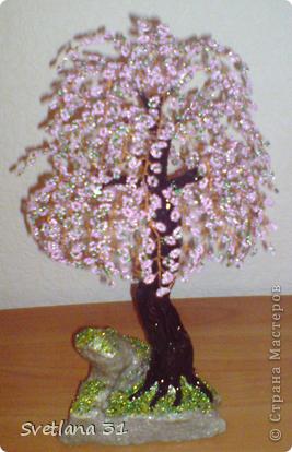 Сакура сделана в подарок на день рождения учительнице сына.Я думаю ей понравится. фото 1