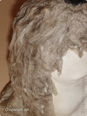 Здравствуйте. Это бутылка декорирована как голова женщины в шляпе. (Правда женщина у меня не совсем получилась , почему то выходило только мужское лицо) фото 16