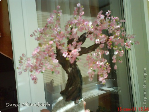 Моё первое бисерное дерево. фото 6