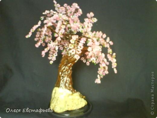 Моё первое бисерное дерево. фото 5