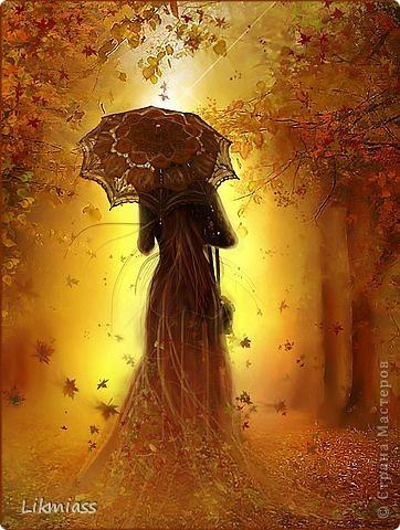 Осень … Настроение солнечно-тепло- осеннее. Захотелось пока хорошая погода сделать открытку под настроение.  Она должна быть осенней, но не грустной, установка была именно такой.  Психологи утверждают, сто с возрастом пристрастия людей относительно времени года меняются. Осень обычно любят дамы Бальзаковского возраста с «хвостиком». ( «хвостик» относится к возрасту естественно). Я полюбила осень лет 10 назад, а это значит…. Ну и пусть значит. Что в этом плохого? Будем искать плюсы.  Плюс №1- дети выросли, а ты еще вполне и можешь делать практически все, что душе угодно.  Плюс №2 - мудрость какая-то уже приобретена и ты не делаешь глупых ошибок ( ну, разве что не совсем уж глупые).  Плюс №3- в карьерном росте ты уже чего-то достиг, самоутвердился и тебе не надо никому ничего доказывать, теперь доказывают тебе. Плюс №4- в материальном плане ты находишься на каком-то уровне и  не рвешь себе душу. Всех денег не заработаешь – ты это уже знаешь наверняка и точно знаешь, что не в деньгах счастье ( ну, может, в их количестве). Плюс №5- эмоции. Они не плещут. А мирно дышат в тебе,  появляется внутренняя свобода, что позволяет тебе жить смело, души и сердца не щадя. Плюс №6 - « Богиня будней, праздников богиня,    Соперница Венеры, орхидеи и огня.    И мужчина думал каждый встречный:  - Ах, какая женщина прошла!»  И так далее до бесконечности. Присоединяйтесь к перечислению.  Нет, минусы тоже есть, но про них не будем. Итак,  мне нравится теплая уютная осень с небольшими дождичками, под шум которых так хорошо почитать, уютно устроившись на диване, с  желто-багряной листвой, которая совершенно очаровательно шуршит под ногами,  с не испепеленным солнцем небом,  с грибами и яблоками, с необыкновенной прозрачностью воздуха. Осень пора умиротворения, пора, когда можно подумать, оглянуться, не спешить.   Вот такое настроение. Открытка должна была ему соответствовать. Не могу сказать, что я ей довольна, вижу, что надо бы немного иначе, но все по порядку.  фото 11