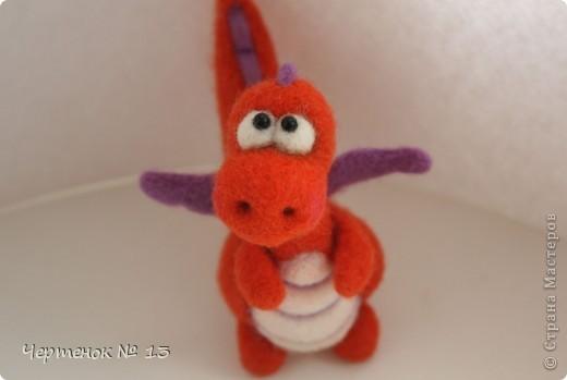 Вот такой дракончик по имени Апельсин родился на свет. Он совсем еще малыш (около 8 см.), очень нежный и наивный. В наступающем Новом году он станет замечательным талисманом и принесет много положительных эмоций!!! фото 2