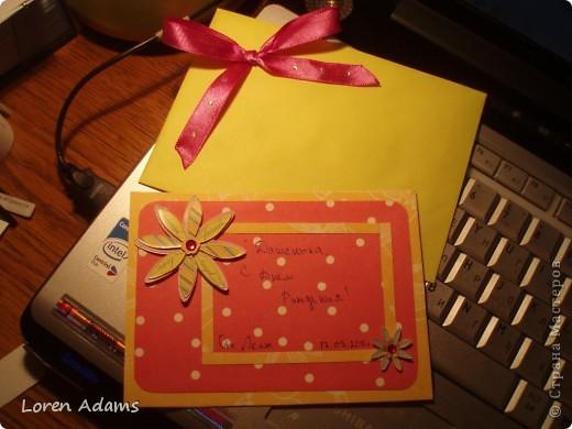 Открытка+ конверт для неё фото 1