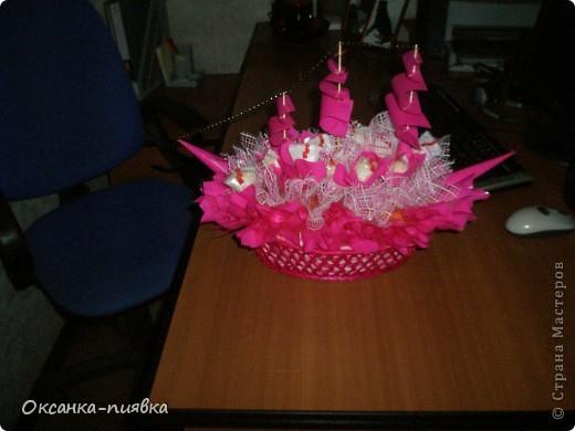 """Подарок маме на День Рождения - корабль """"Счастья"""" из конфет фото 1"""