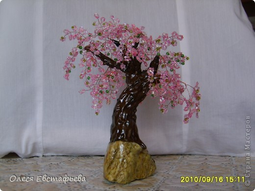 Моё первое бисерное дерево. фото 4