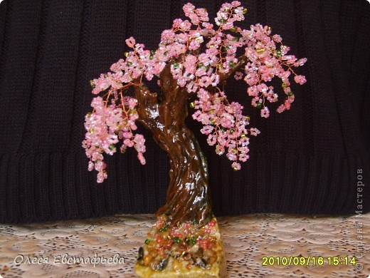 Моё первое бисерное дерево. фото 3