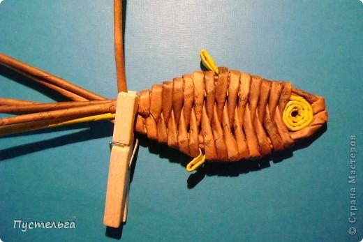 Мастер-класс Поделка изделие Плетение Рыба птица зверь Бумага газетная фото 12