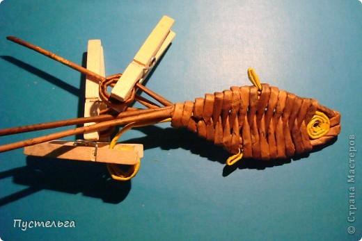 Мастер-класс Поделка изделие Плетение Рыба птица зверь Бумага газетная фото 13