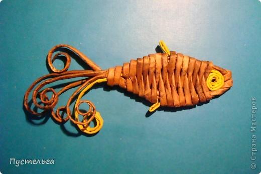 Мастер-класс Поделка изделие Плетение Рыба птица зверь Бумага газетная фото 14