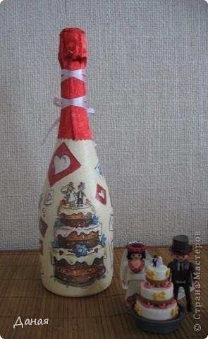 Бутылка делалась на юбилей свадьбы... фото 4