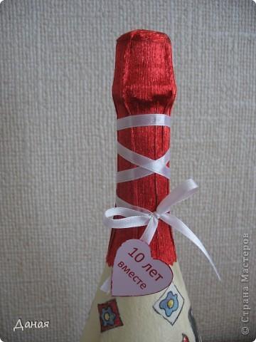 Бутылка делалась на юбилей свадьбы... фото 6