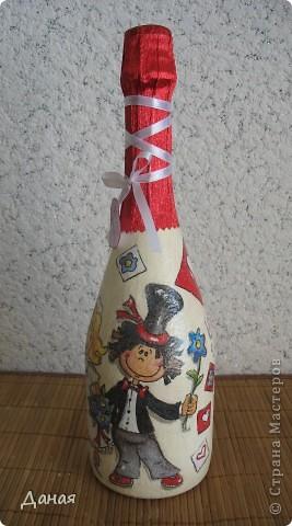 Бутылка делалась на юбилей свадьбы... фото 3