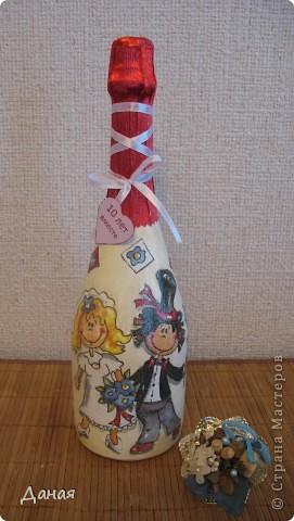 Бутылка делалась на юбилей свадьбы... фото 1