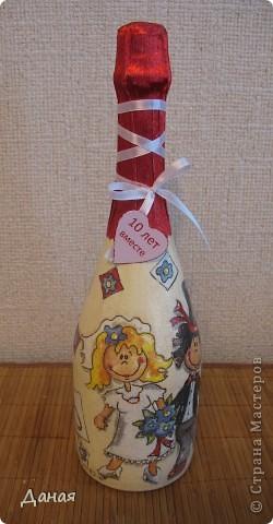 Бутылка делалась на юбилей свадьбы... фото 2