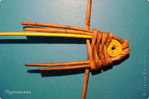 Мастер-класс Поделка изделие Плетение Рыба птица зверь Бумага газетная фото 9