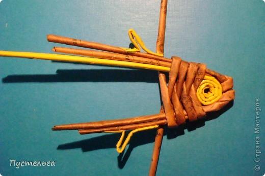 Мастер-класс Поделка изделие Плетение Рыба птица зверь Бумага газетная фото 10