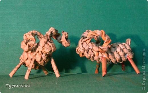Мастер-класс Поделка изделие Плетение Рыба птица зверь Бумага газетная фото 33