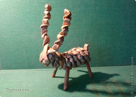 Мастер-класс Поделка изделие Плетение Рыба птица зверь Бумага газетная фото 32