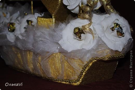 Свадебный корабль с сундучком для денег. фото 4