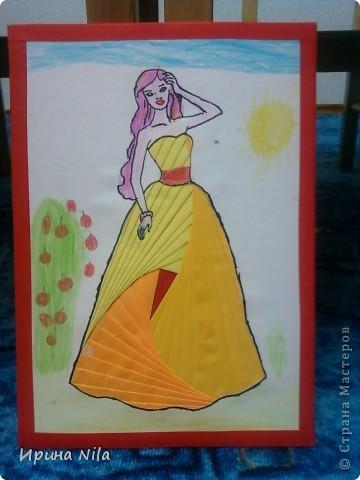 """Всем Мастерицам здравствуйте!  Представляю работы моих учеников, это детки с которыми я занимаюсь в кружке """"Ловкие ручки"""". Работа Маши, 6лет """"Принцесса"""". фото 1"""