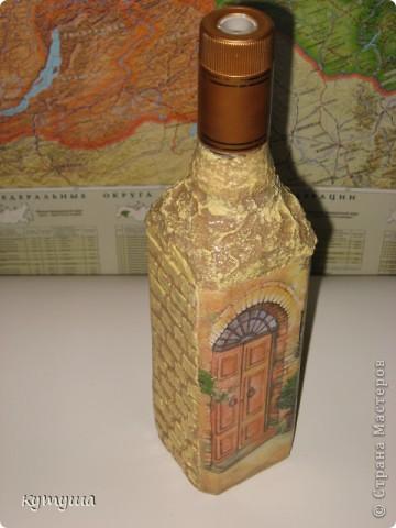 Бутылка со дна морского, сразу скажу, что декупажа здесь, конечно же, нет, но очень хотелось показать, бутылочку делала на день рождения сынуле- была пиратская вечеринка и в этой бутылке0 которую принесло море, был кусок пиратской карты, по которой мы искали сокровище фото 4