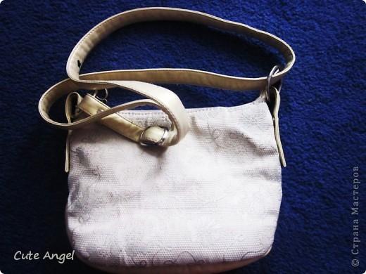Вот в такую васильковую сумочку,превратилась моя старенькая ,но очень любимая сумка фото 2