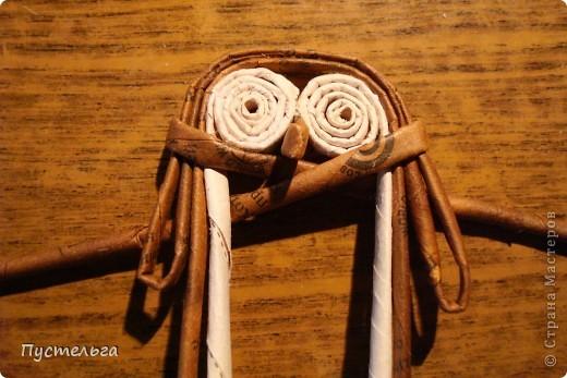 """Пришли ко мне на мастер-класс мама с ребёнком. Пока мама осваивала плетение верёвочкой, ребёнок скрутил две трубочки и спрашивает: """"А что можно сделать из них?"""" Я тогда не смогла ответить. Вот теперь знаю... фото 19"""