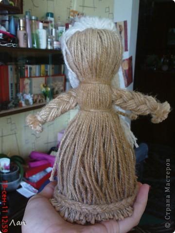 Кукла из ниток фото 4