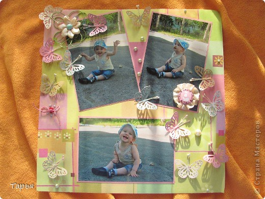 """Посетила сегодня мастер-класс. Тема была """"Детская страничка"""". Вот что у меня получилось. На фотографиях моя дочка Варя. :) фото 1"""