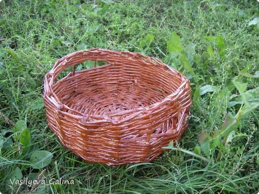 ваза малая-косое плетение. фото 2