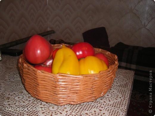 ваза малая-косое плетение. фото 3