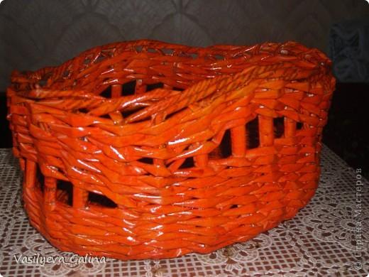 ваза малая-косое плетение. фото 5