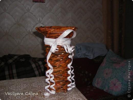 ваза малая-косое плетение. фото 6