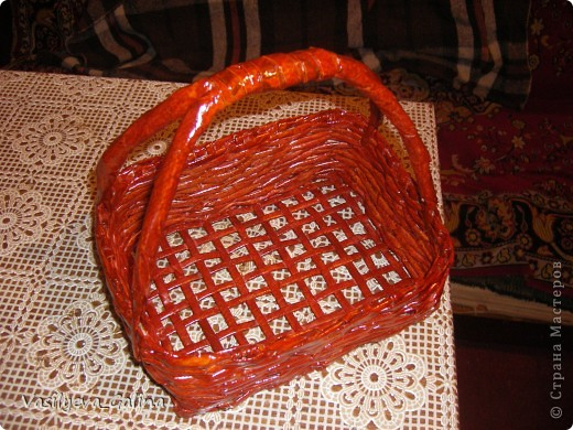 ваза малая-косое плетение. фото 8