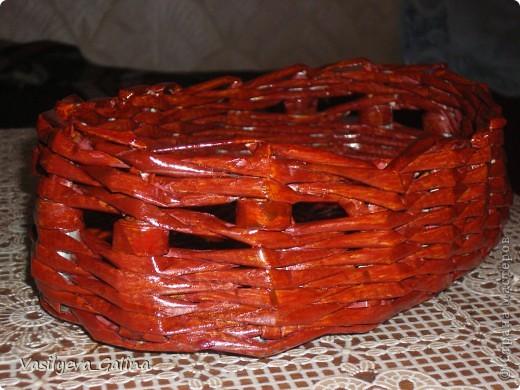 ваза малая-косое плетение. фото 9