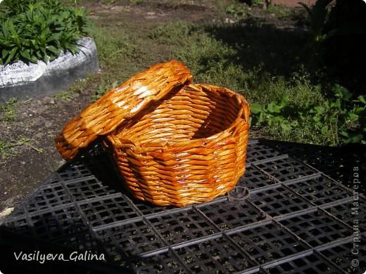 ваза малая-косое плетение. фото 11