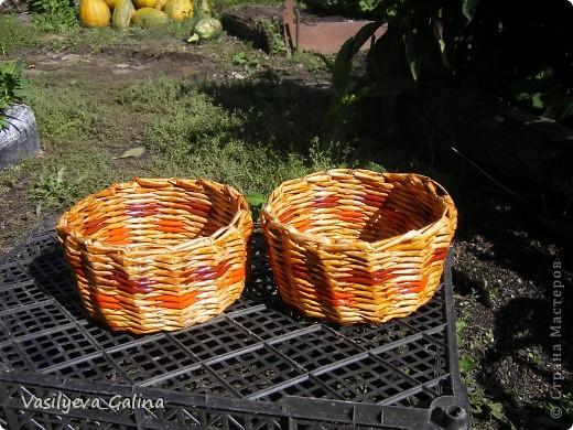 ваза малая-косое плетение. фото 14