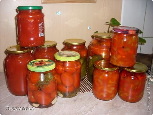 томаты в собственном соку, лечо, маринованные помидорчики фото 1