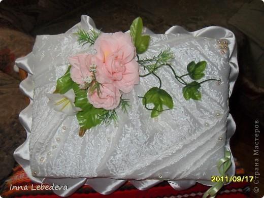 Занимаюсь постановкой свадебных танцев и еще решала делать небольшие подарочки молодоженам. Одним казну подарила. В этот раз бокальчики.))) Коробка для бокалов. фото 1